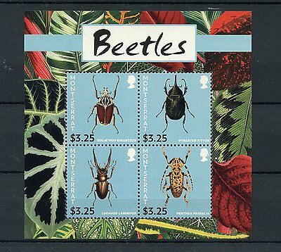 Montserrat 2015 MNH Beetles 4v M/S Insects