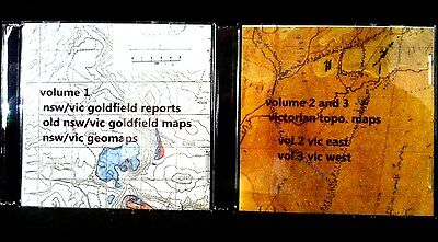 Oz Gold Deposit Maps on CD, find gold & old mines with minelab detectors etc