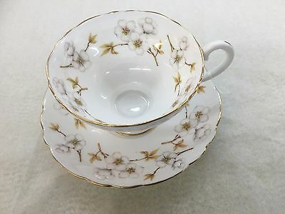 Crown Staffordshire England Teacup And Saucer