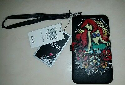 DISNEY LITTLE MERMAID ARIEL TATTOO iPHONE CASE/WALLET LOUNGEFLY New with Tags