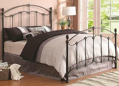 Yasmine Traditional Brass Full Iron Bed with Acorn Finials by Coaster 300395F
