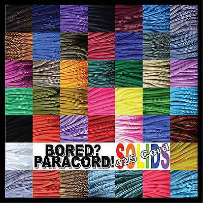 425 Paracord Rope 3 Strand Cord - 100 Feet - 44 Solid Colors