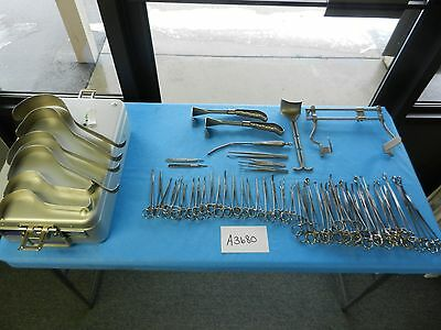 V. Mueller Pilling Surgical OB/GYN Hysterectomy Instrument Set With Case