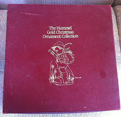 Danbury Mint Hummel Gold Set Of 19 Different Christmas Ornaments With Boxes