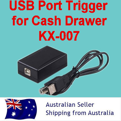 Cash Drawer Trigger (KX-007) with USB Interface: USB A to B Male Cable Adapter