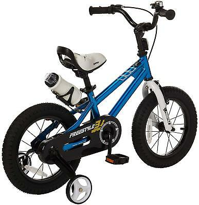 Royalbaby BMX 12 inch 12'' Kids Bikes Boys Push Bicycle Blue w/ Training Wheels