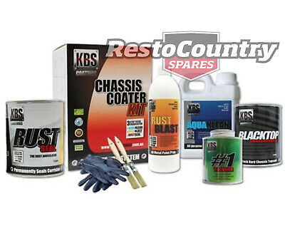 KBS Chassis Coater PRO Kit GLOSS BLACK Rust and Corrosion Prevention Degreaser