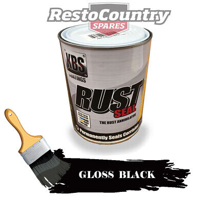 KBS RustSeal GLOSS BLACK One 1 Litre Rust Seal Paint Rust Preventive Coating