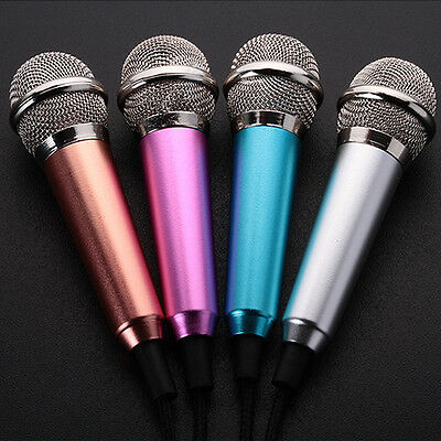 Purple Hand Held Microphone Mini Wired Sing Karaoke Mike Android iOS Smart Phone
