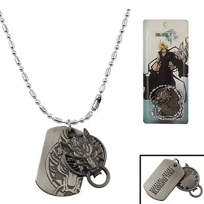 Final Fantasy VII Cloud Wolf Logo Necklace Cosplay New