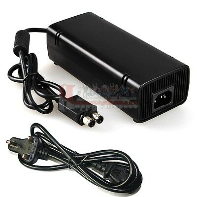 AC Brick Adapter Power Supply for Xbox 360 Slim UK Mains Charger Cable 135W