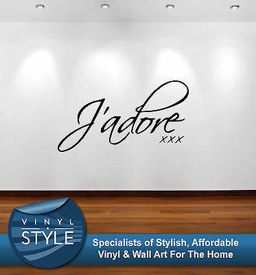 I Adore Quote Decor Decal Sticker Wall Art Various Colours