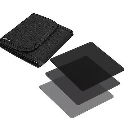 """4x4"""" Neutral Density Full ND2 +ND4 +ND8 ND Filter with Bag for Matte Box Holder"""