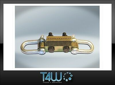 T4W Car body pulling front clamp hitch for stringers tresholds