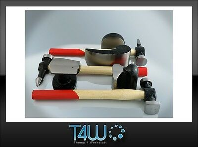 T4W Tinman's set hammers and dollies 7pcs. set / wooden handle