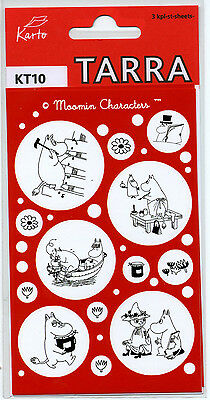 Moomin Labels Stickers 3 Sheets Karto Finland