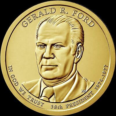"2016 D Gerald Ford Presidential Dollar ""Brilliant Uncirculated"" Coin US Mint"