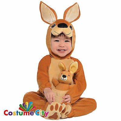 Baby Infants Toddlers Jumpin Joey Kangaroo Fancy Dress Party Halloween Costume