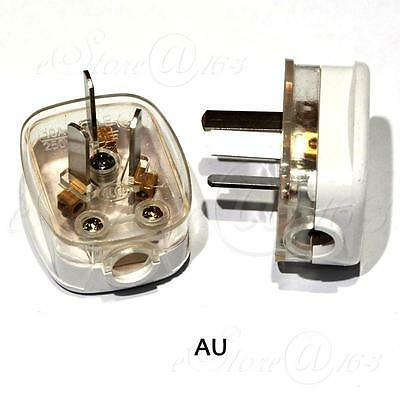 2x Rewirable 3Pin 250V/10A AU Plug Power Cord Connector Adapter For DIY Repair