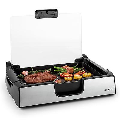 Electric Die Cast Grill With Glass Cover 1500W Griddle Plate * Free P&p Uk Offer