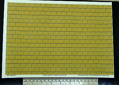 Yellow roof tile self adhesive vinyl G gauge (1:24) - A4 sheet -210 x 297mm