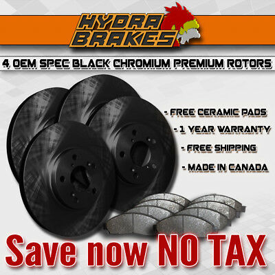 Fits 2009 2010 2011 2012 Ford Fusion Oe Blank Brake Rotors Ceramic Blk