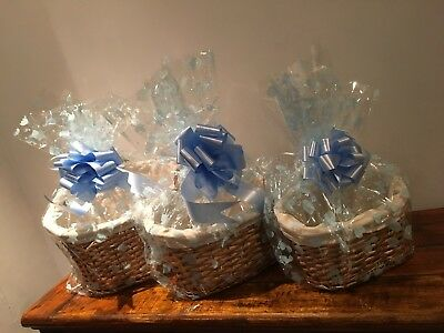 MAKE YOUR OWN MATERNITY HAMPER KIT 3 SIZES,OVAL includes WHITE BOW & CELLOPHANE