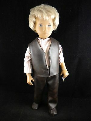 Vintage Sasha Blond Boy Blue Eyed Doll w/ Original Outfit & Wrist Tag