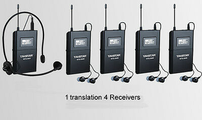 Takstar WTG-500 Tour Guide Teaching UHF Wireless System 1 Transmitter 4 Receiver