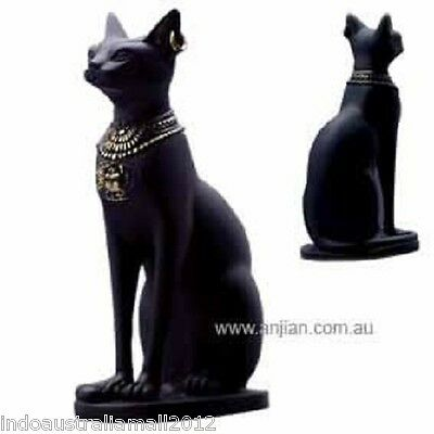 Bastet Egyptian Cat- Protector and Defender Goddess of Perfumes Statue(AN126)
