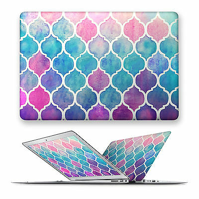 Watercolor Matte Hard Front Case Cover For Apple Mac Macbook Air Pro 11 12 13 15