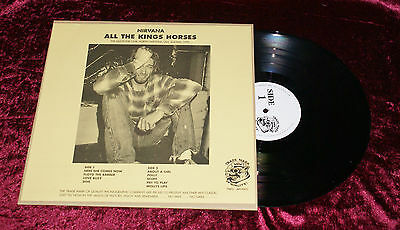 "Vinyl 12"" NIRVANA ALL THE KINGS HORSES LP Rare Bootleg Trade Mark Grunge Seattle"