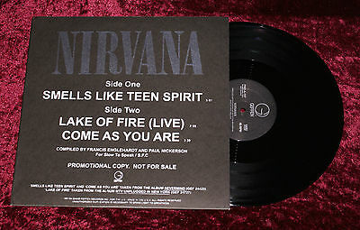 "Vinyl 12"" NIRVANA SMELLS LIKE TEEN SPIRIT PROMO Single Geffen 1991 Rare 45 RPM"