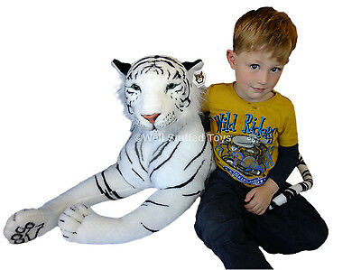 """Huge Giant Extra Large White Tiger Soft Toy Plush 160cm 63"""" Realistic Features"""
