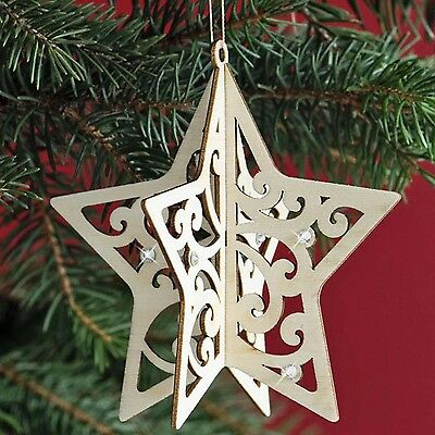 Flourish Enesco Star Hanging Wood Ornament by Lauren Picciuca 4034269 Retired