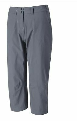 Rab Helix Capris lightweight 3/4 length Trousers/Pants. Colour - Graphene (Grey)