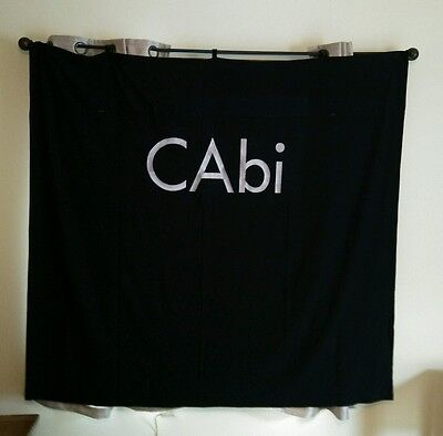 "Cabi Black Show Curtain Back Drop Embroidered Logo 68""W x 63""L"