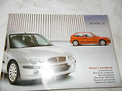 Rover 25 1.4 03 Owners Handbook