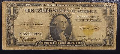 1935 A $1 North African  Silver Certificate Note Yellow