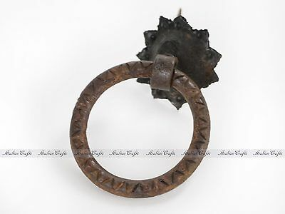Circle Shape Primitive Wrought Iron Door Pull - Wrought Iron Door Knocker