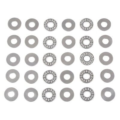 (10 PCS) AXK1024 (10x24x2 mm) Thrust Needle Roller Bearing with Washers