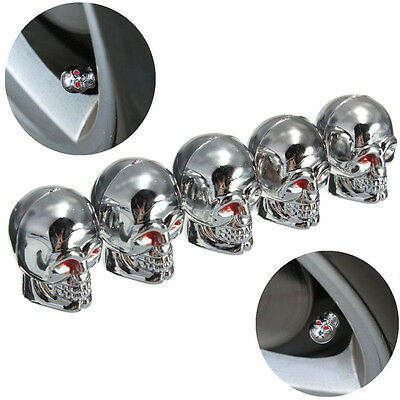 Hot Sell Red Eyes Skull Tyre Tire Air Valve Stem Dust Caps For Car Bike Truck