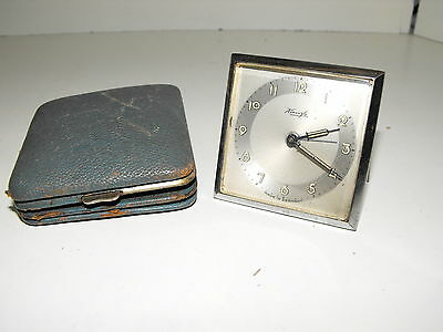 Rare Vintage Kienzle German Made Detachable Travel Windup Alarm Clock Working