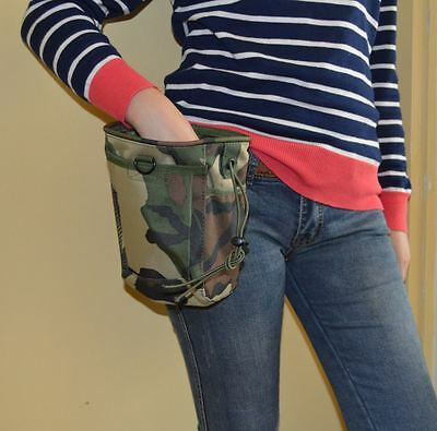 Ship worldwide military green camo Treat Bag for dogs For training and daily use