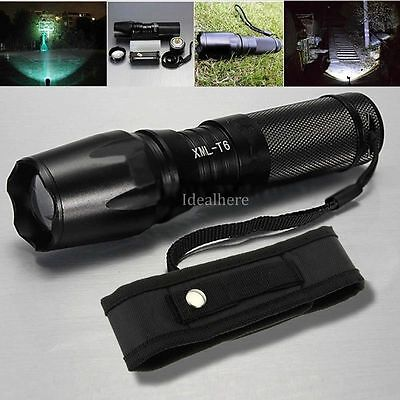 8000Lm XML T6 LED Flashlight Zoomable Torch Lamp Light 26650 Battery+ Holster