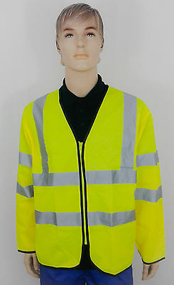 StepAhead Hi Vis Visibility Viz Long Sleeve Zip Front Safety Vest (Spa/Holl)