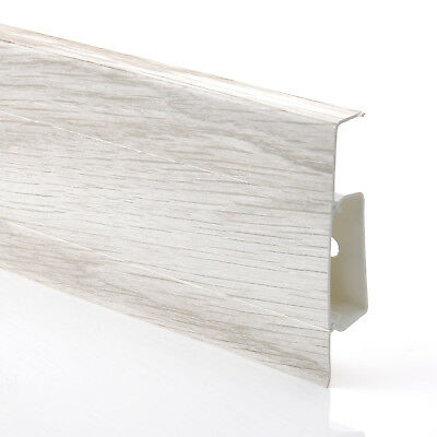 2.5m BALTIMORE ASH SKIRTING BOARD (FREE screws) 75mm PVC wall floor joint cover