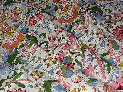 "WILLIAM MORRIS ""LODDEN"" 2.6 metres designer curtain fabric DARP222525 Blush/Woad"