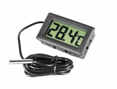 Digital Aquarium Reptile Vivarium Thermometer With Probe Freezer Uk Seller