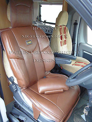 Fiat Ducato 2011 Motorhome Seat Covers Rossini Ymdx Sports Brown Mh-503